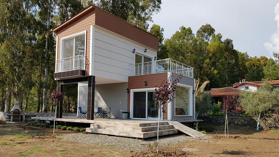 İki Katlı Konsept Çelik villa