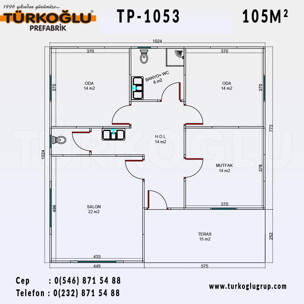 105 Metre Karelik Prefabrik Ev