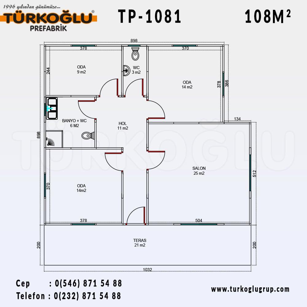 108 Metre Karelik Prefabrik Ev