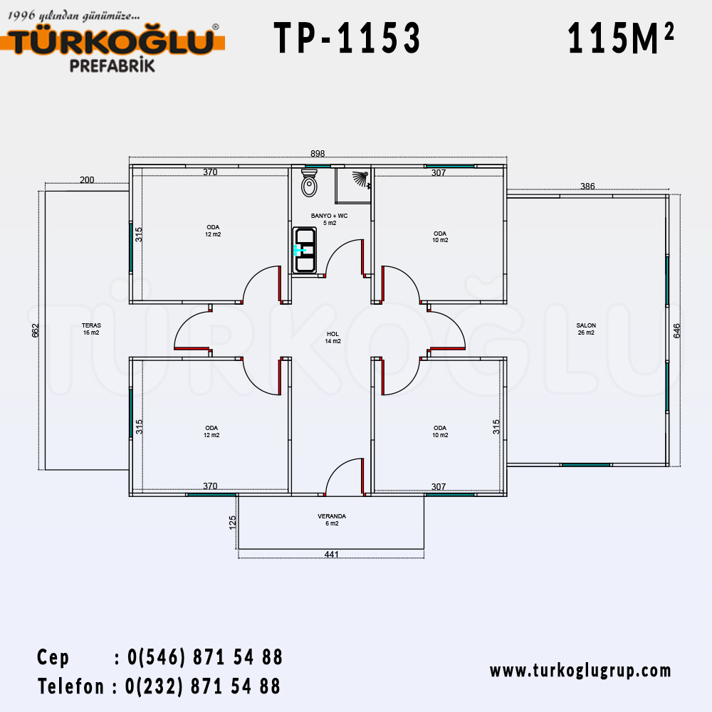 115 Metre Karelik Prefabrik Ev