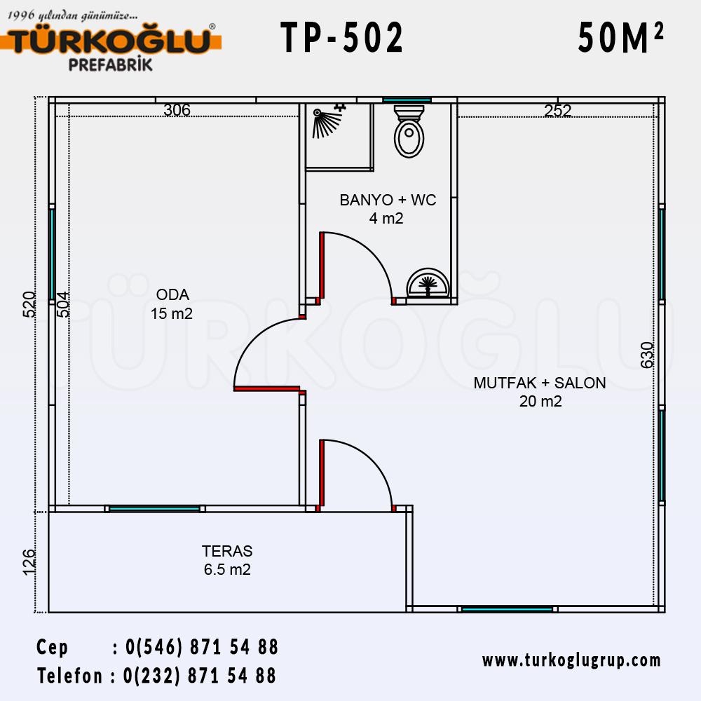 50 Metre Karelik Prefabrik Ev