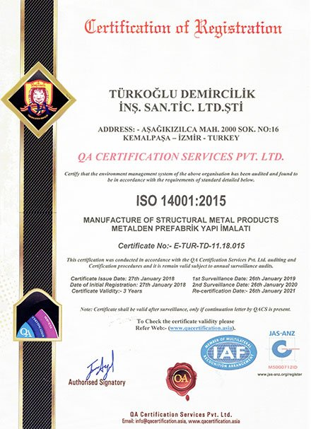OHSAS İş Güvenlik 18001:2007 Belgesi