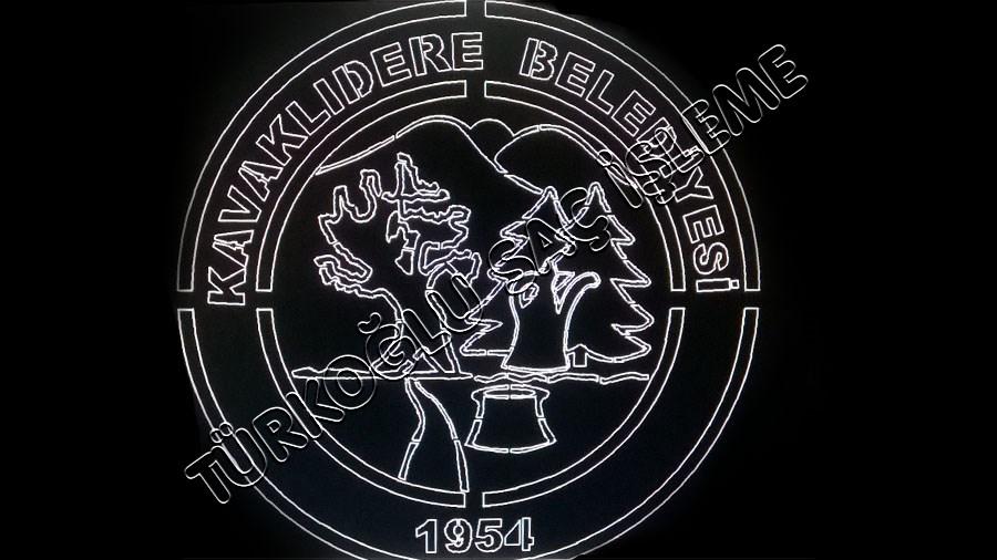 belediyelere özel logo metal