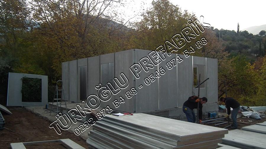 İki Katlı Prefabrik ev Yapımı