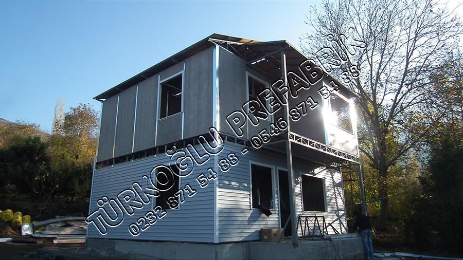 İki Katlı Prefabrik ev