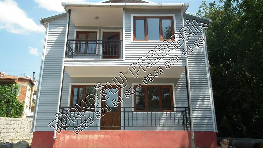 İki Katlı Prefabrik ev Bademli