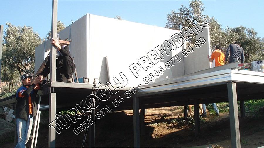 Prefabrik ev duvar sistemi