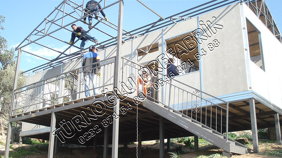 Prefabrik ev çatı başlangıcı