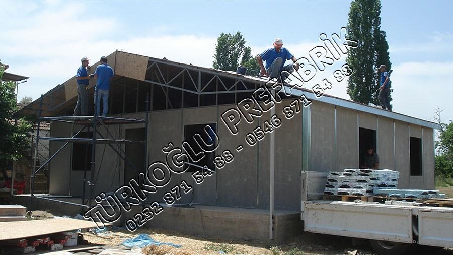 Prefabrik Ev Yapım aşaması