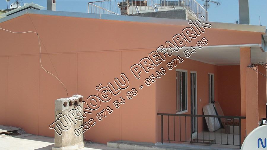 Betonarme Bina Üzerine Prefabrik ev