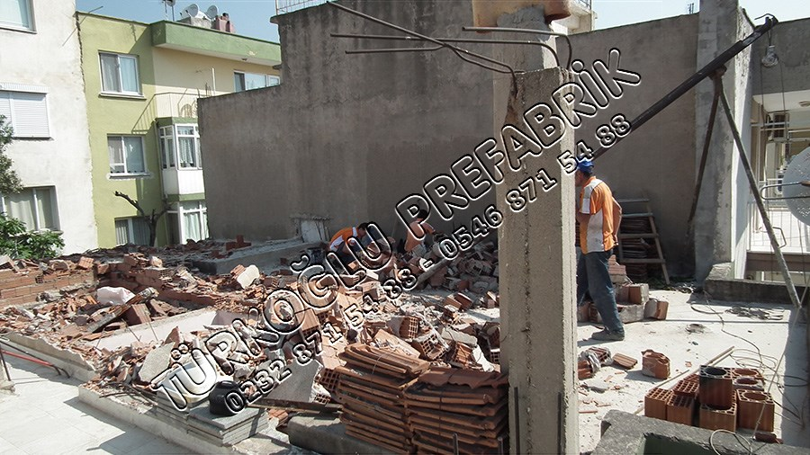 Betonarme Bina Üzerine Prefabrik ev Yapımı
