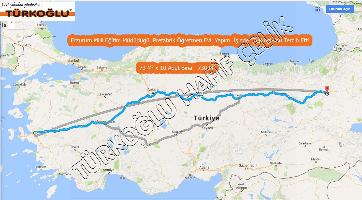 Erzurum Milli Egitim Müdürlügü Türkoglu Prefabrik Tercihi